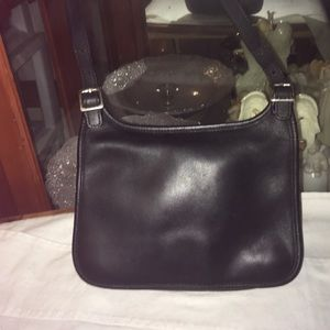 Vintage Coach Leather Slim Saddle Cross Body Bag